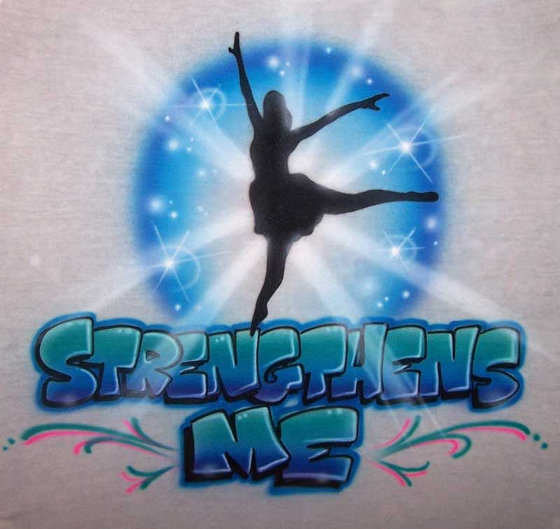 Personalized Classical or Ballet Dancer Airbrushed Shirt