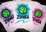 Custom Fitness Shirts Any Colors Zumba Airbrushed