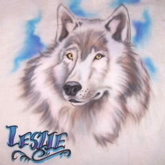 Custom Wolf airbrush t-shirt