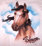 Custom horse airbrush t shirt