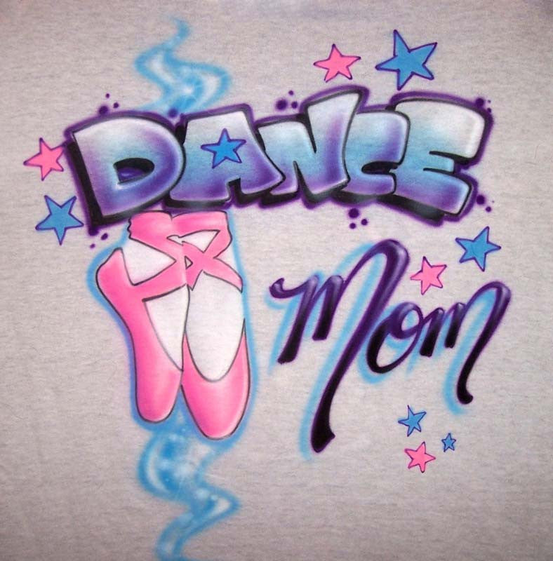 Dance Mom Airbrushed Shirt with Ballet Slippers