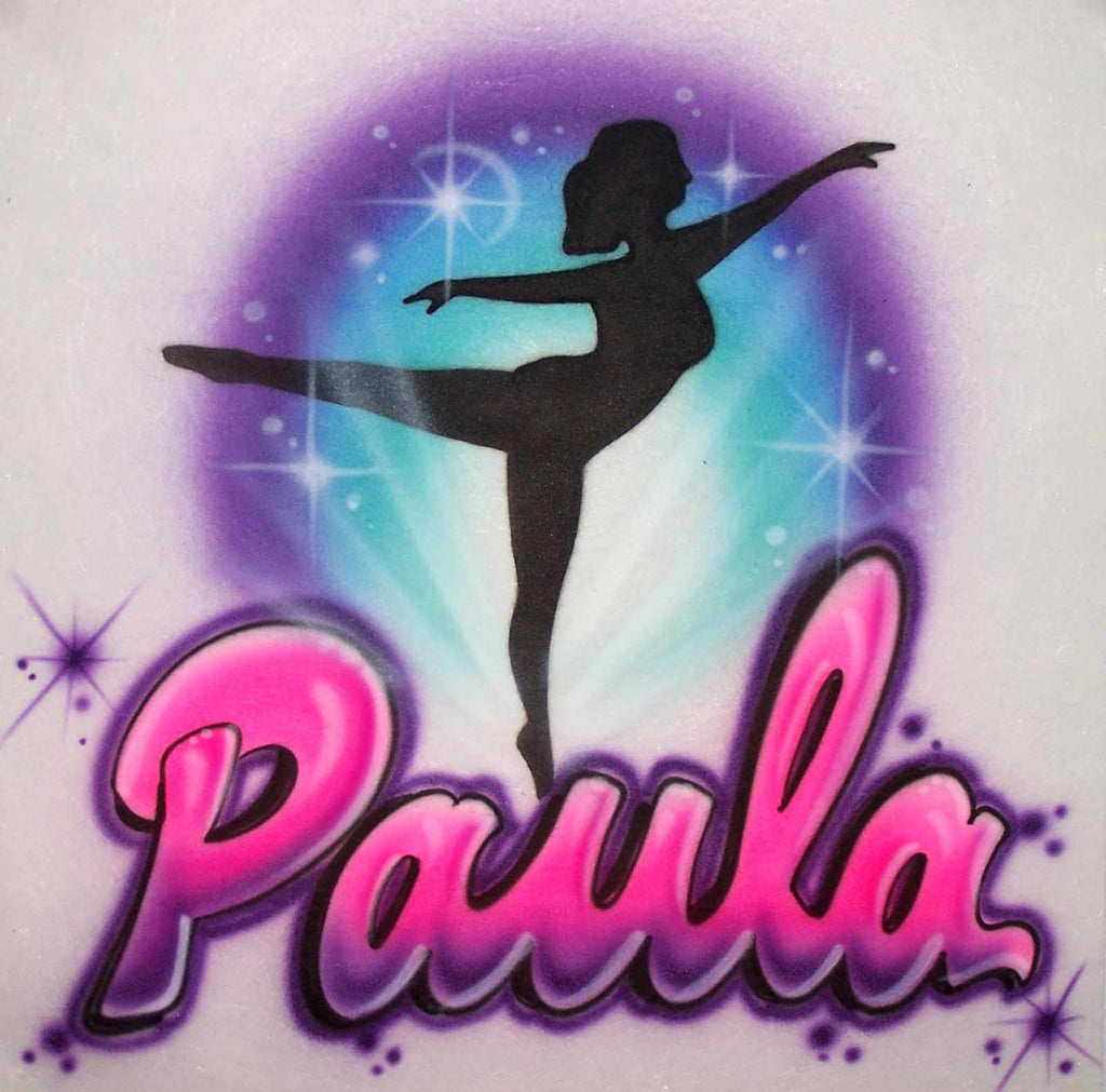 Ballet Dancer Airbrushed Personalized Shirt Design