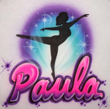 Dancer Ballet Airbrushed Shirt Design