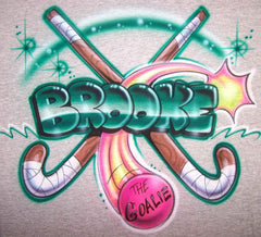 Field Hockey Airbrushed Shirt Design