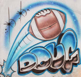 Football Name Airbrushed Shirt