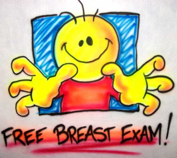 Free Breast Exam Smiley Face Adult Humor T-Shirt or Sweatshirt