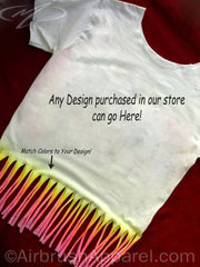 Fringe Cut Airbrushed Shirt Upgrade