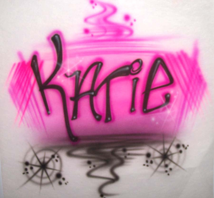 Airbrushed freestyle print shirt