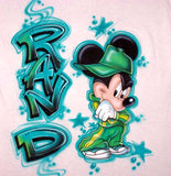 Hi Hop Mickey Custom Airbrushed T-Shirt Sweatshirt Hoodie