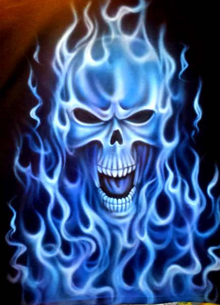 Skulls, Flames, Aliens & More; Custom Themed Airbrush Tees ...