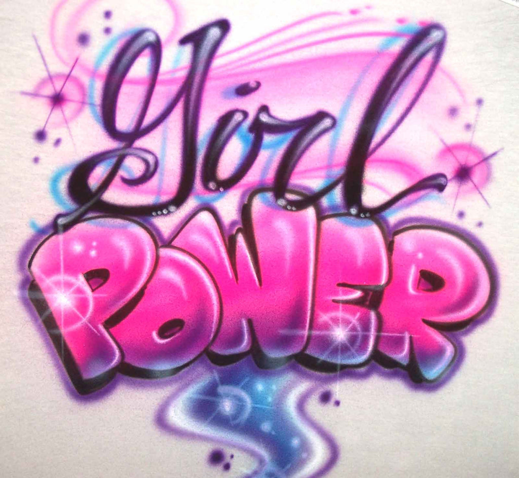 Girl Power Custom Airbrushed Shirt