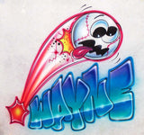 Wacky flying baseball airbrushed t-shirt design