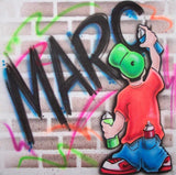 Graffiti Artist Airbrushing Name on Wall Tee or Sweatshirt