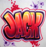 Graffiti Block Letter custom airbrushed t-shirt