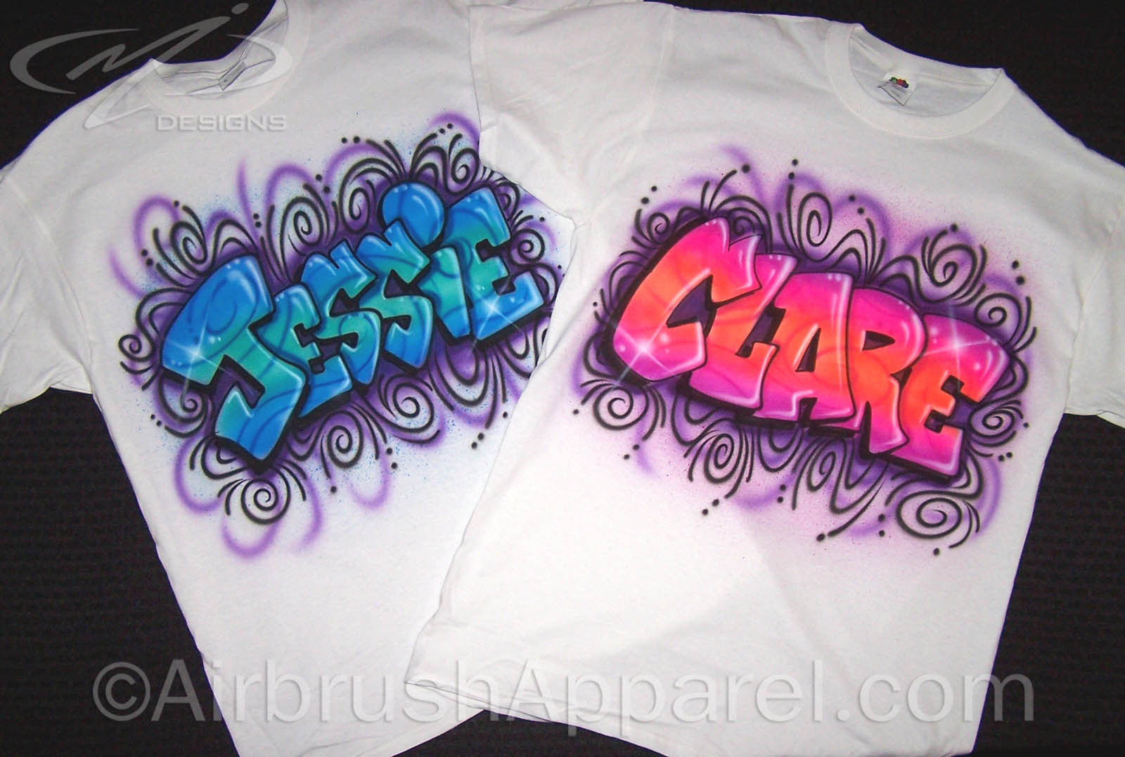 Freestyle Graffiti Name Design With Crazy Swirled Background