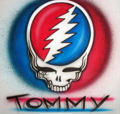 Steal Your Face Gratful Dead airbrushed shirt