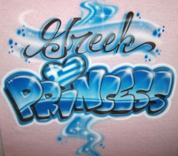 Greek Princess airbrushed shirt