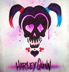 Suicide Squad Airbrushed Harley Quinn Custom T-Shirt or Sweatshirt