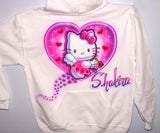 Hello Kitty Cupid Heart Personalized Hoodie