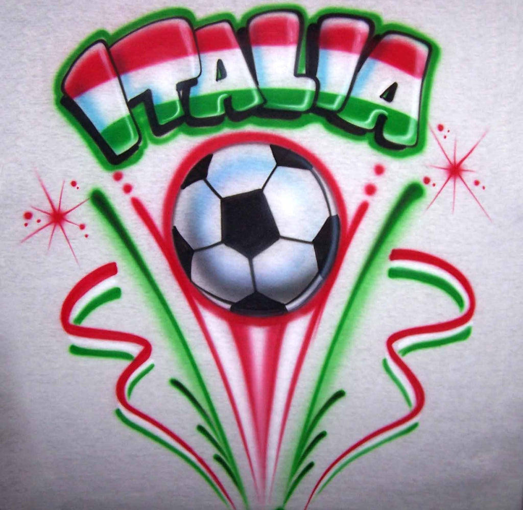Airbrushed World Cup Soccer Shirt with Any Nationality