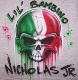 Italian Skull Airbrushed Shirt