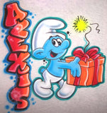 Airbrushed Jokey Smurf Personalized T-Shirt or Sweatshirt