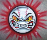Mean face Baseball Airbrushed Design Shirt