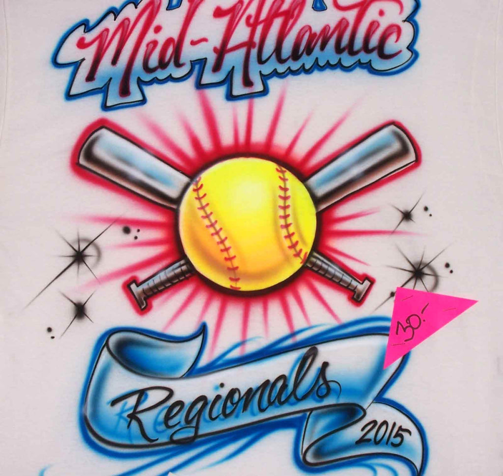Airbrushed Mid-Atlantic Regionals Softball Tournament Event Shirt