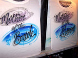 Mother of the Bride and Groom Airbrushed Bridal Party T-Shirt