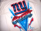 NY Giants Airbrushed Logo T-shirt or Sweatshirt
