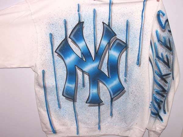 NY Yankees Inspired Full Covered Airbrushed Sweatshirt or Hoodie