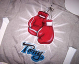 Personalized Airbrushed Boxing Gloves Hooded Sweatshirt