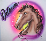 Personalized airbrush horse cartoon shirt