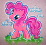 Airbrushed Pinky Pie My Little Pony Custom T-Shirt Hoodie Personalized