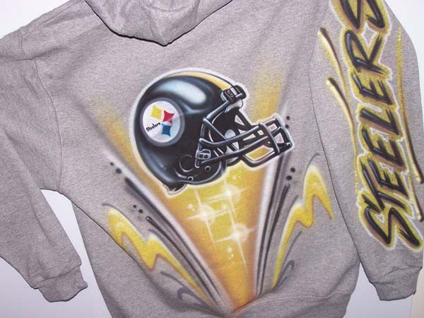 Pittsburgh Steelers Airbrushed Custom Hoodie
