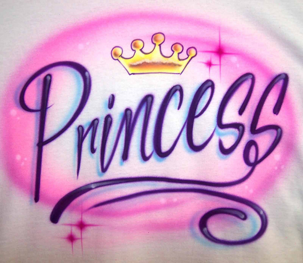 Princess and Tiara  Airbrushed Tee or Sweatshirt