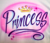 Princess with Tiara Airbrushed Shirt