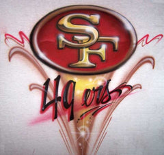 SF 49ers Airbrushed Custom Freestyle T-Shirt Sweatshirt