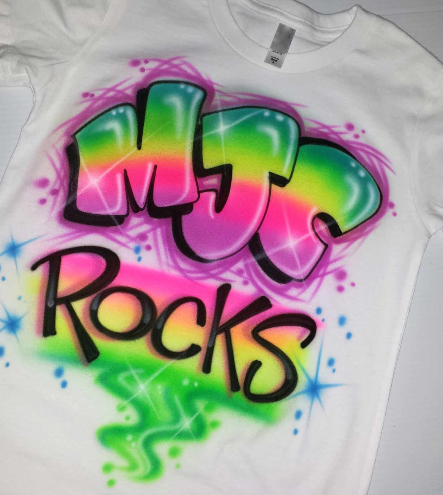 Custom Camp Rocks Graffiti Airbrush Shirt