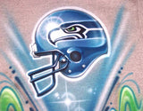 Seahawks Football Helmet Custom Airbrushed Sweatshirt