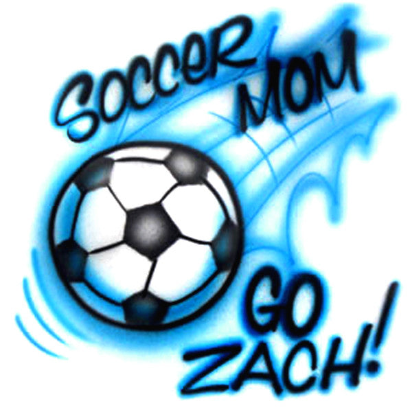 Soccer Mom Airbrush and Personalize Your Shirt