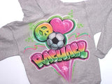 Soccer Personalized Airbrushed Hooded Sweatshirt