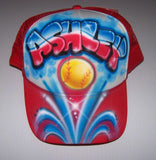 Graffiti Name Airbrushed Softball Trucker Hat