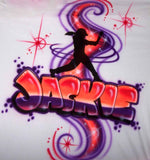 Softball Batter Airbrushed Personalized T-Shirt