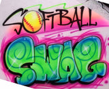 Airbrushed Softball Swag Custom Shirt Design