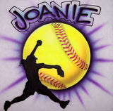 Personalized Fastpitch Softball Airbrushed Shirt Design