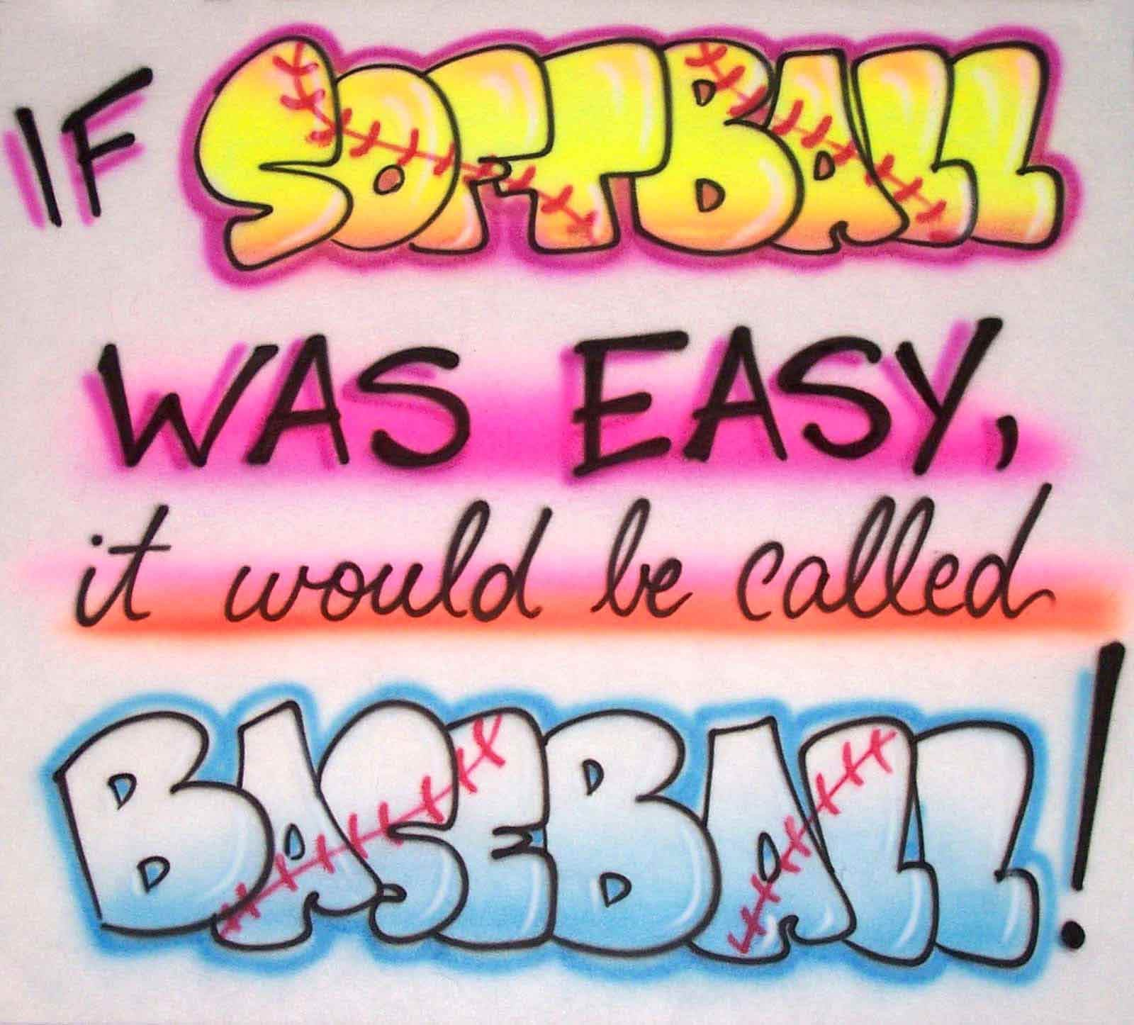 Airbrushed Softball Humor Custom Shirt