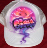 Personalized Airbrushed Sunset Clouds Snap Back Trucker Hat