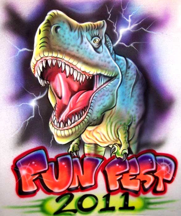 Custom Airbrushed T-Rex Personalized Dinosaur Shirt
