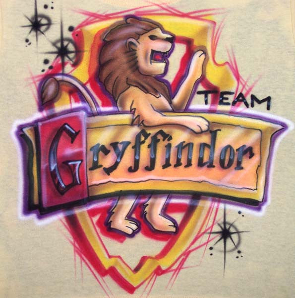 Airbrushed Team Gryffindor Harry Potter Custom Tee or Sweatshirt